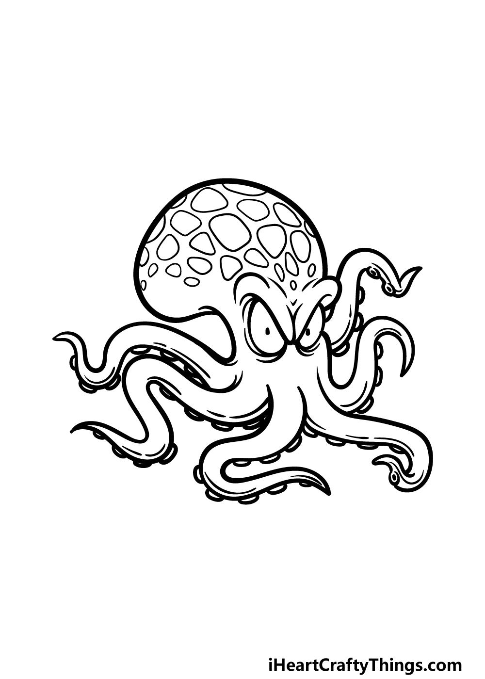 drawing Kraken step 5