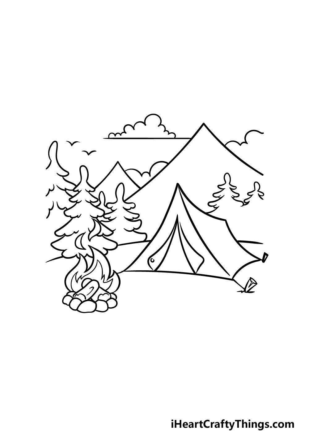 drawing camping step 5