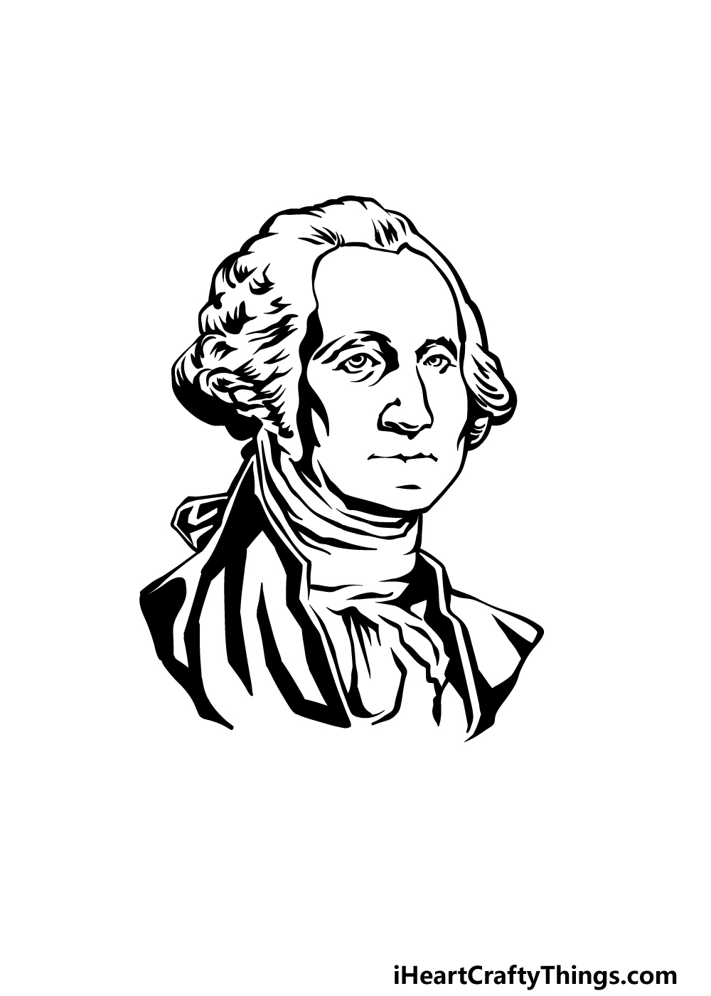 how to draw George Washington step 5