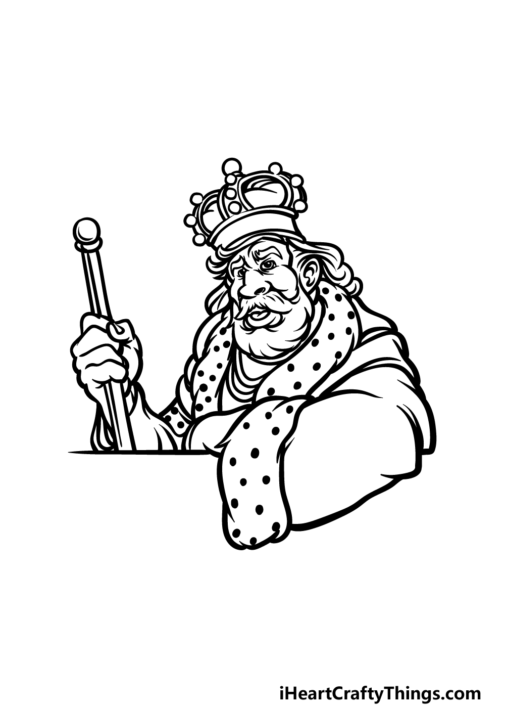 how to draw a King step 5