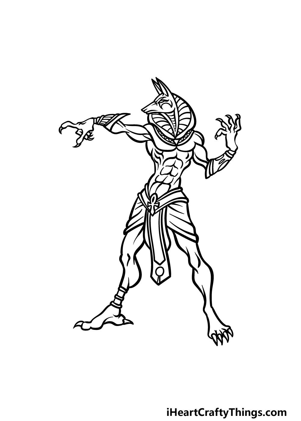drawing Anubis step 5