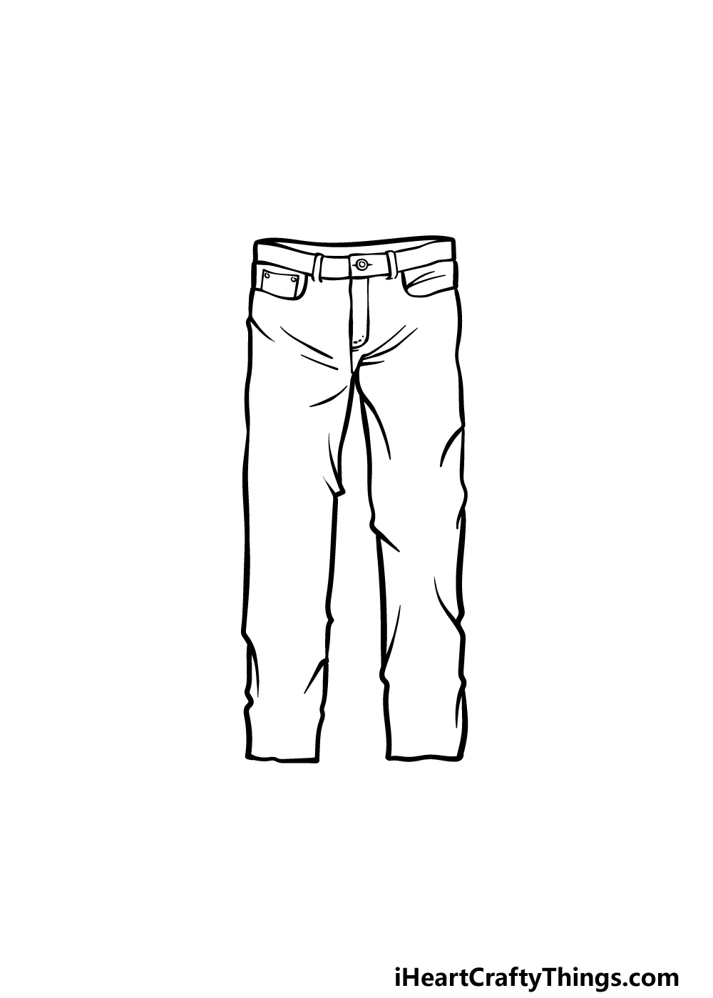 how to draw pants step 5
