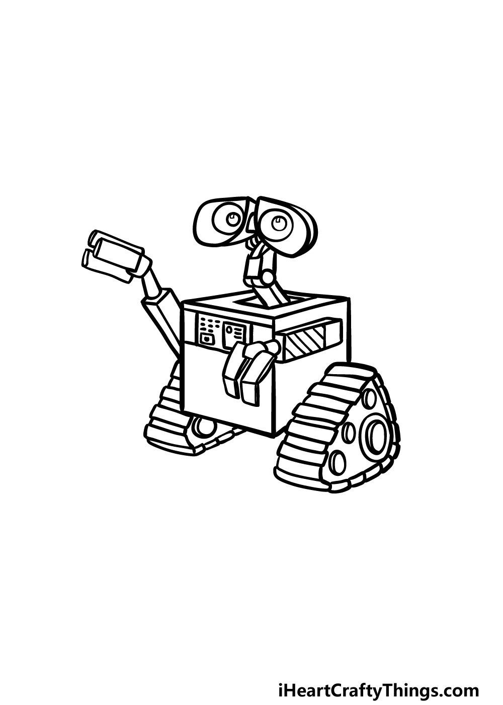 how to draw Wall-E step 5