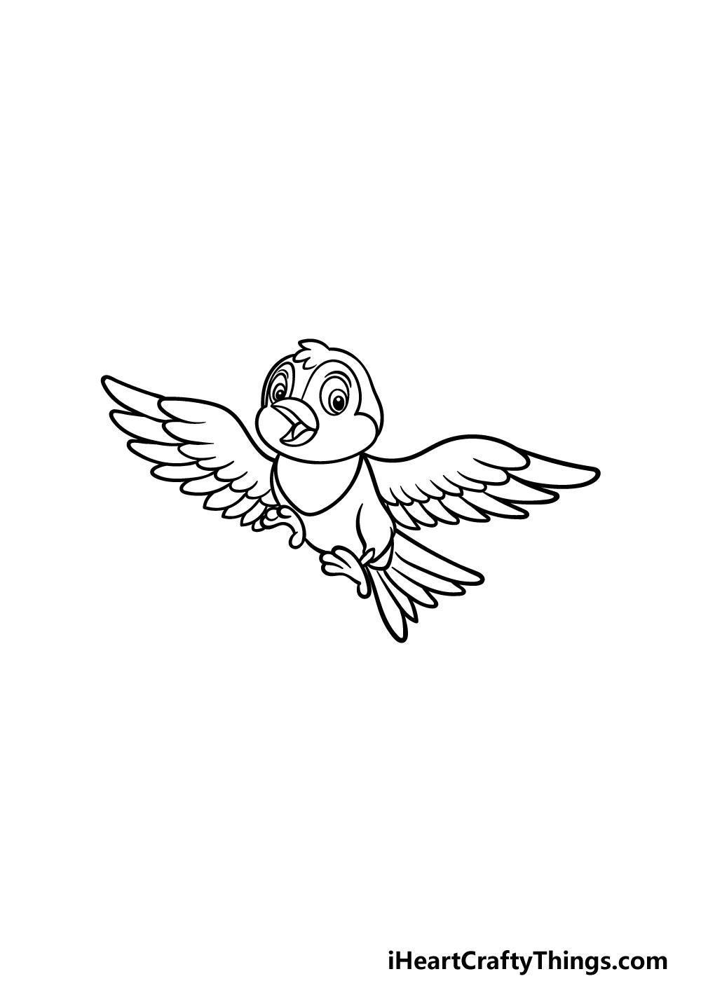 how to draw a cartoon bird step 5