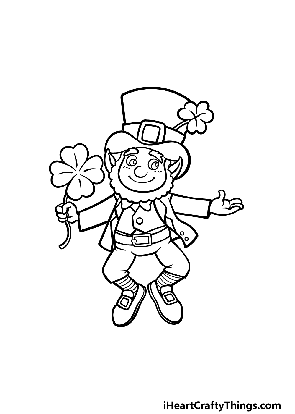 how to draw St. Patrick's Day step 5