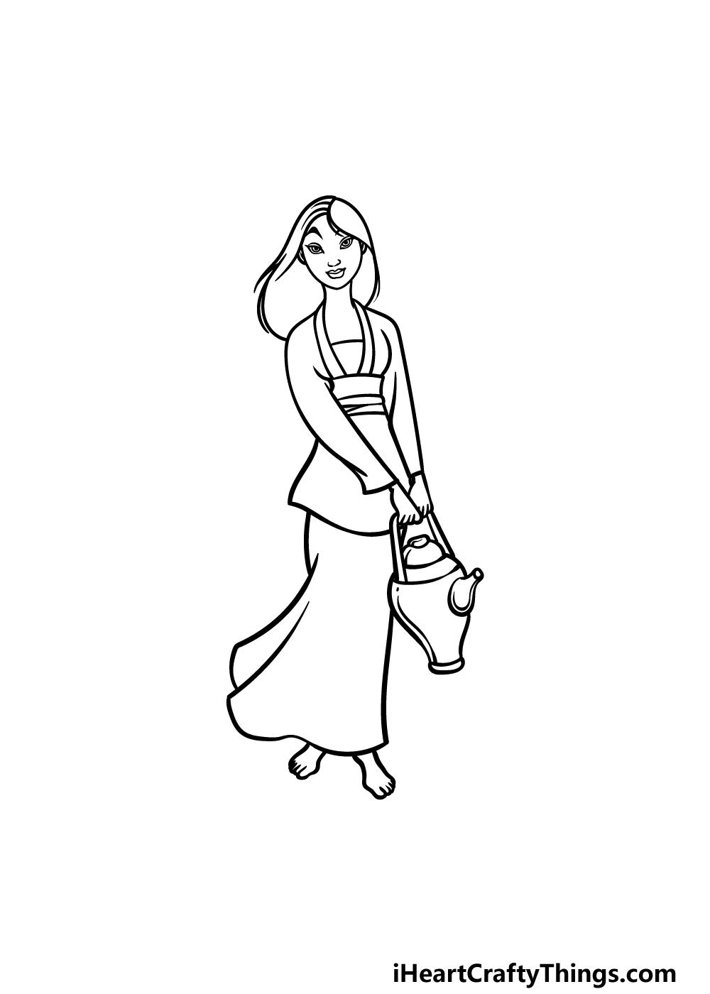 drawing Mulan step 5