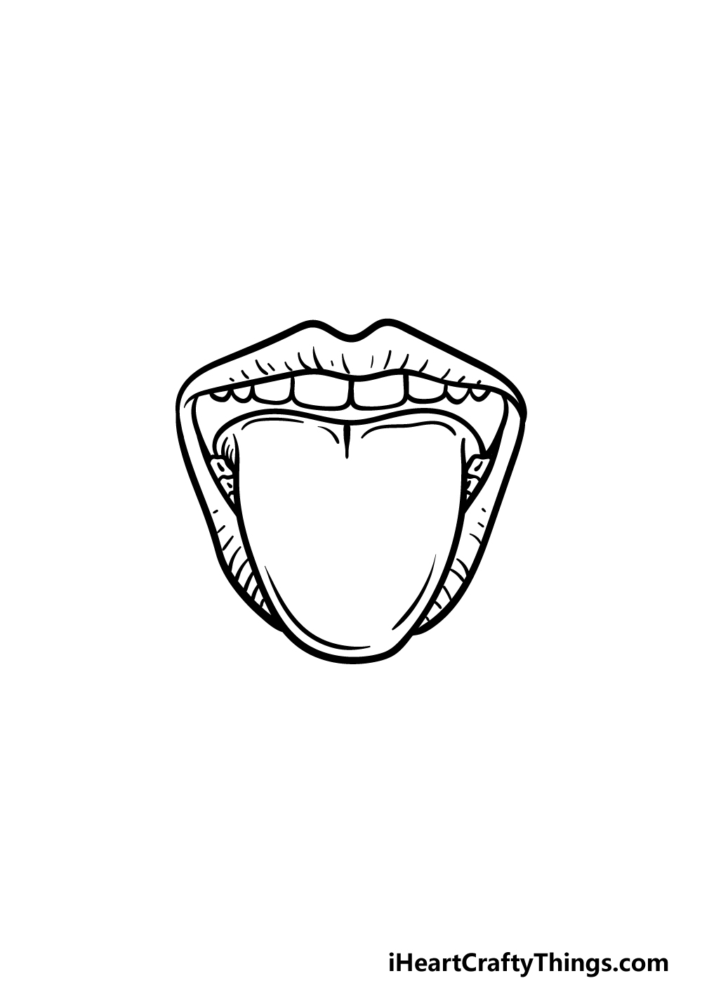 how to draw a tongue step 5