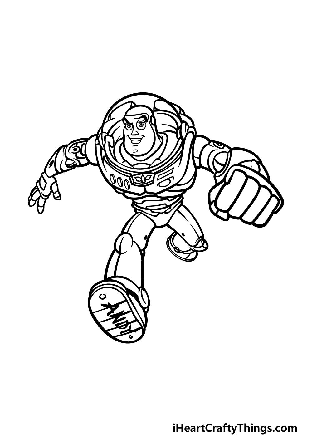 drawing Buzz Lightyear step 5