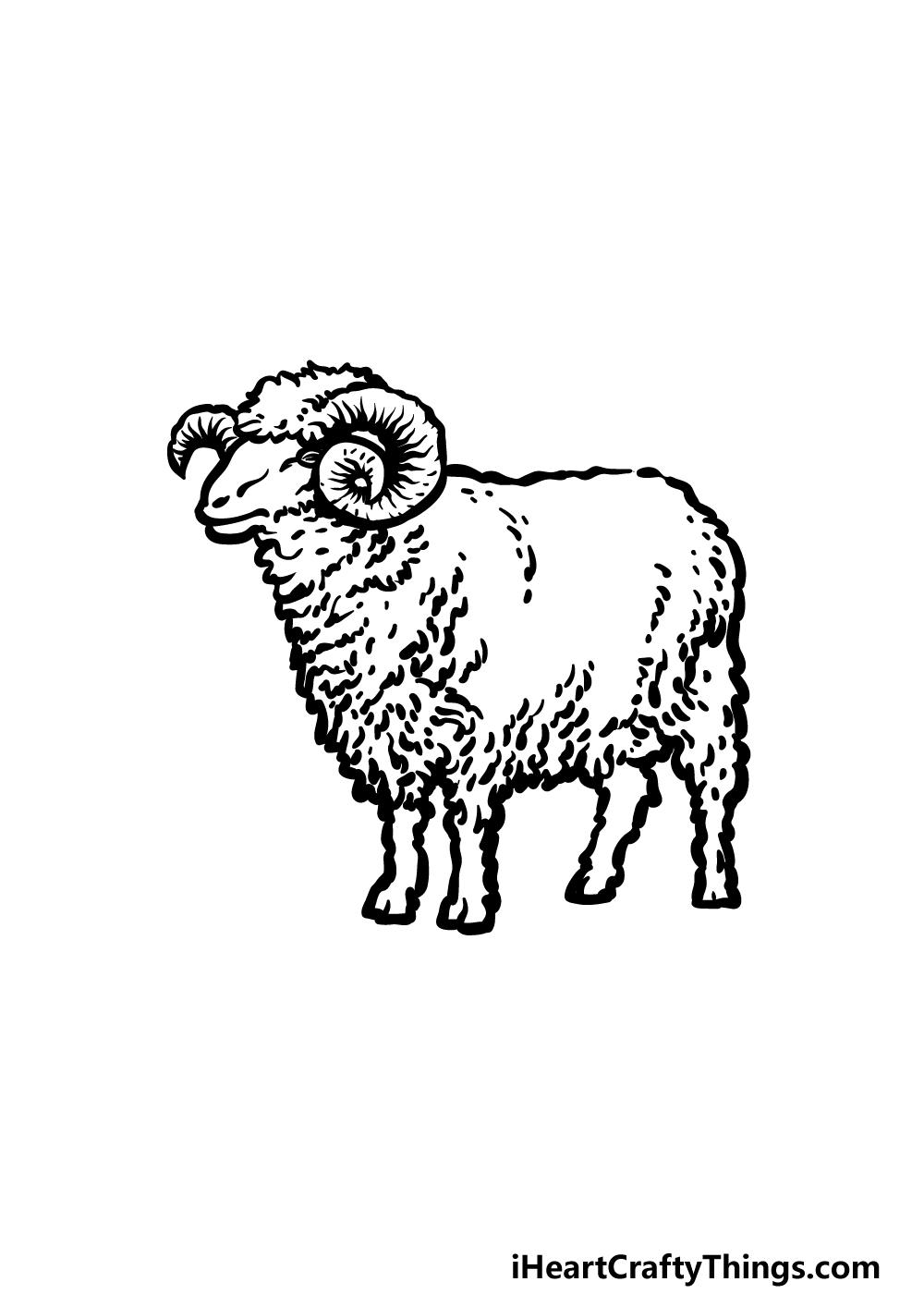 drawing a ram step 5