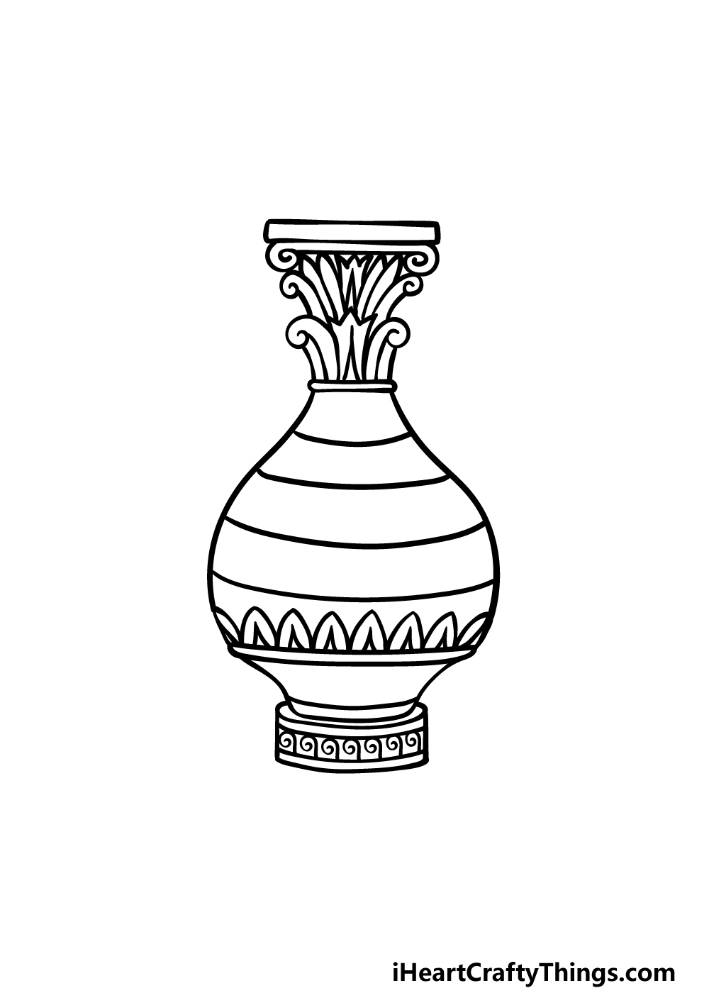 drawing a vase step 5