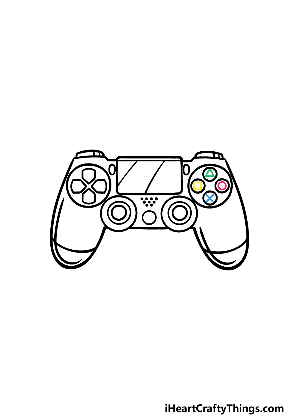 drawing PS4 Controller step 5