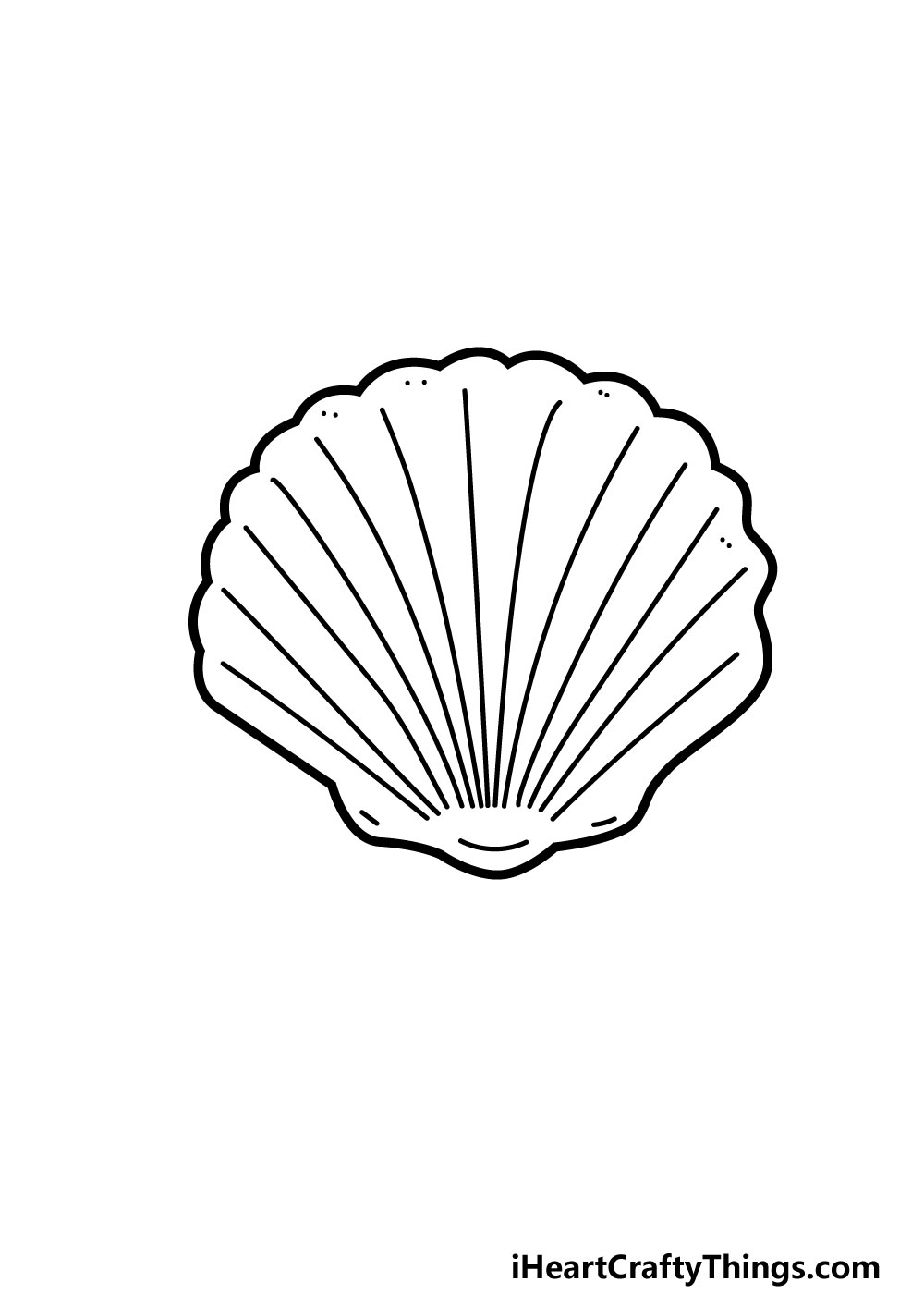drawing a shell step 6