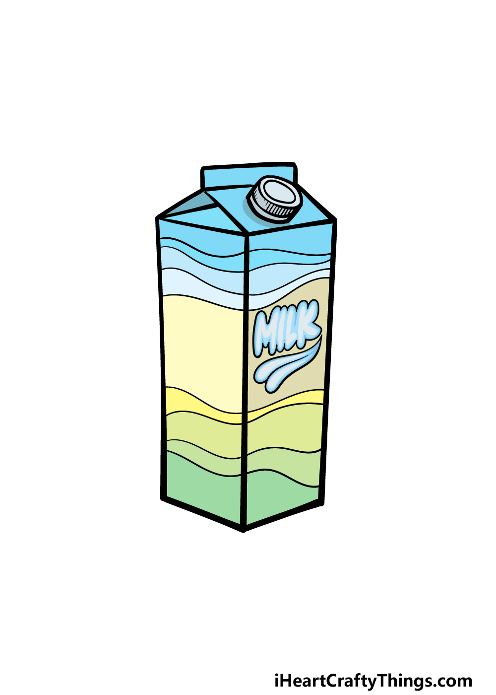 drawing a milk carton step 6
