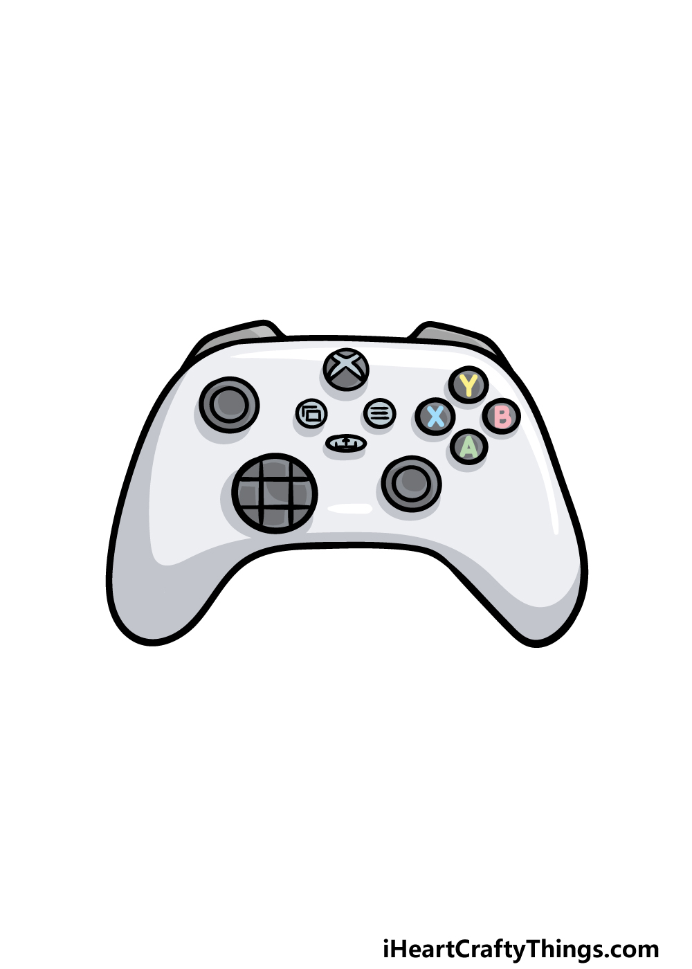 drawing an Xbox Controller step 6