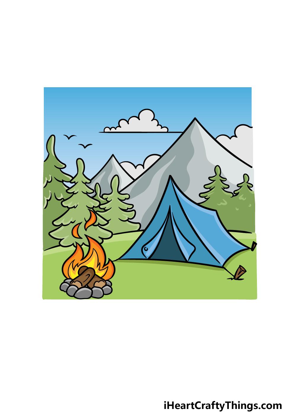 drawing camping step 6