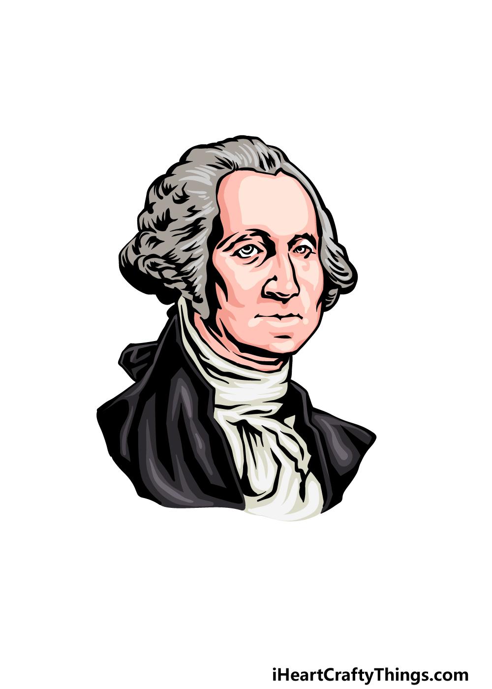 how to draw George Washington step 6