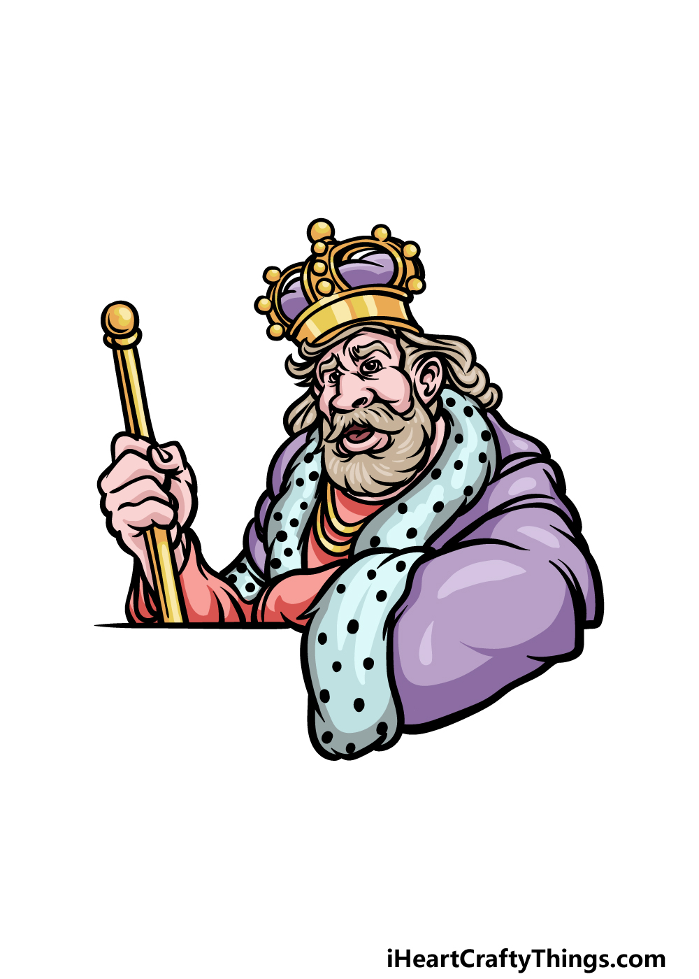 how to draw a King step 6