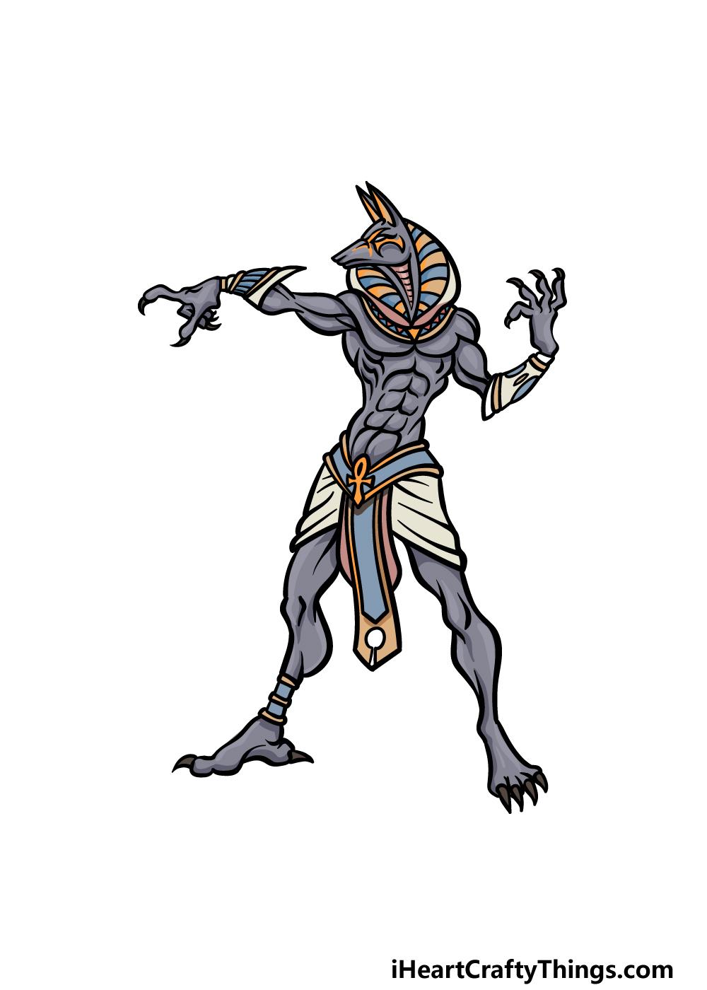 drawing Anubis step 6