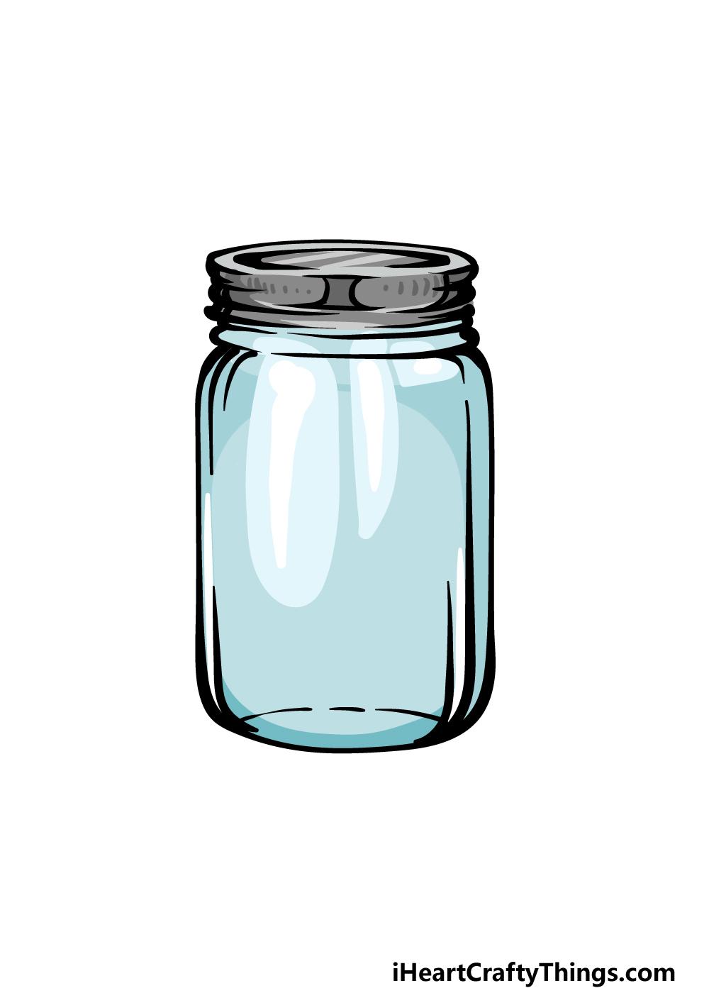 how to draw a mason jar step 6