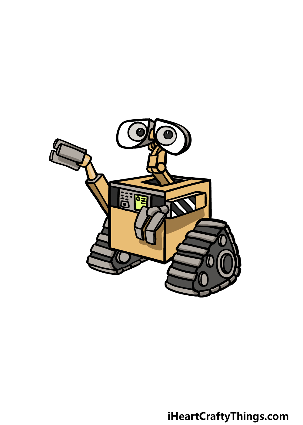 how to draw Wall-E step 6