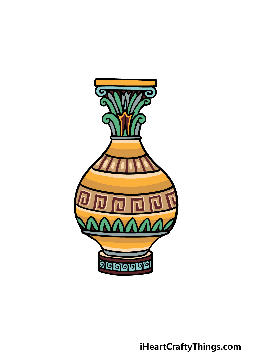 drawing a vase step 6
