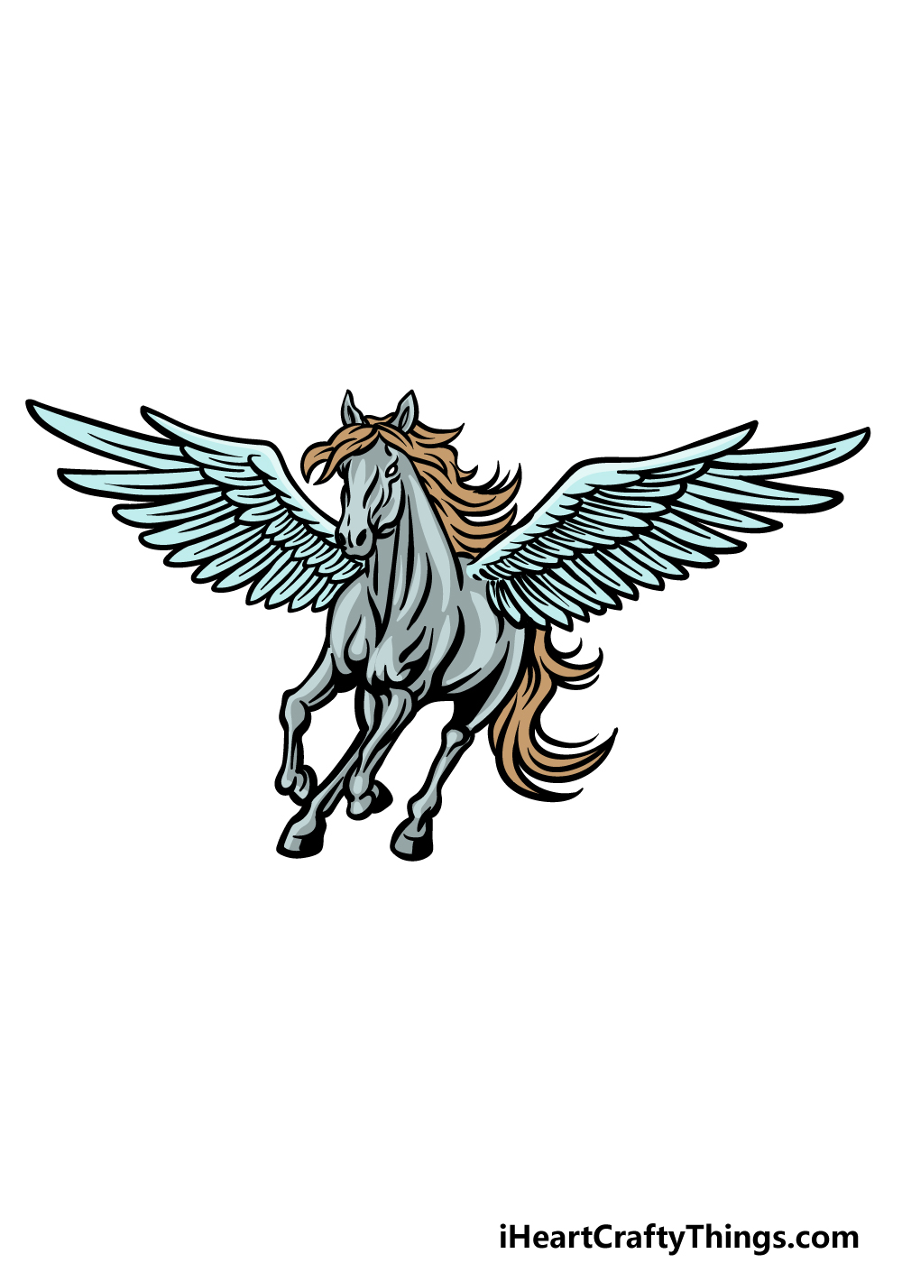 how to draw Pegasus step 7