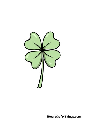 how to draw a shamrock image