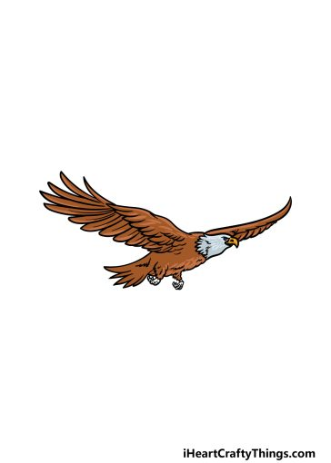 how to draw a Flying Eagle image
