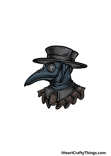 how to draw a plague doctor image