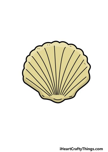 how to draw a shell image