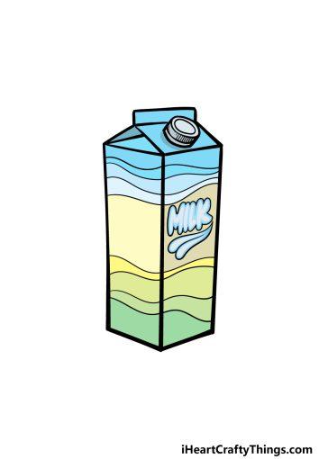 how to draw a milk carton image