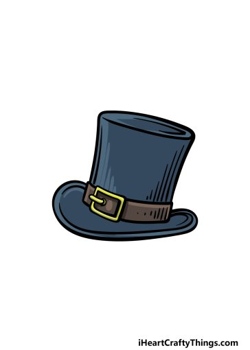 how to draw a top hat image