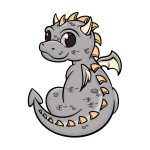 how to draw a baby dragon image