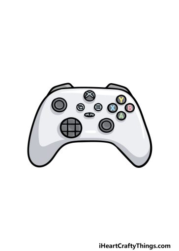 how to draw an Xbox Controller image