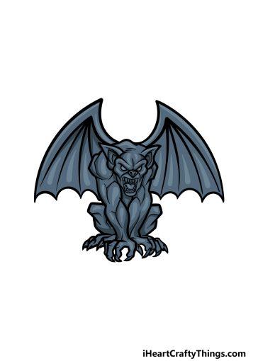 how to draw Gargoyle image