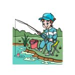 how to draw fishing image