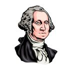 how to draw George Washington image