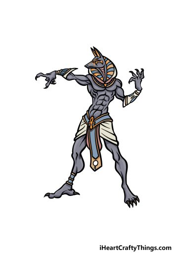 how to draw Anubis image