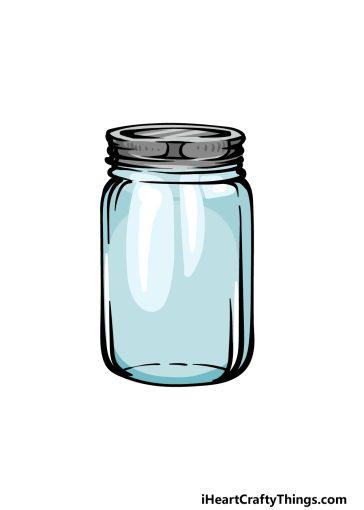 how to draw a mason jar image