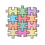 how to draw Puzzle Pieces image