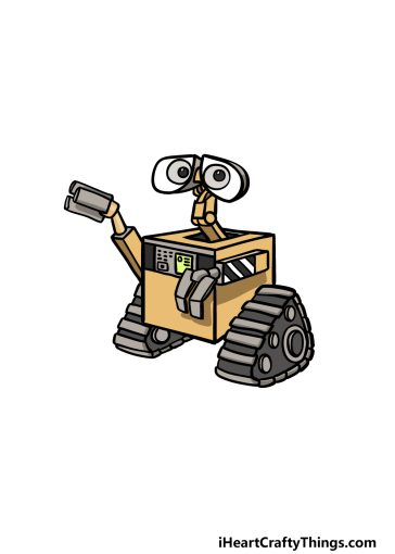 how to draw Wall-E image