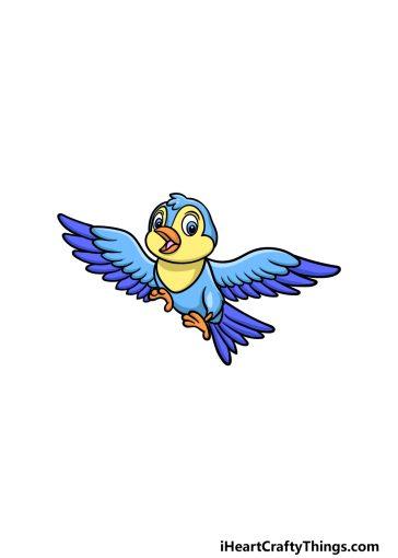 how to draw a cartoon bird image