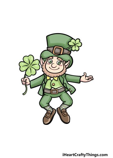 how to draw St. Patrick's Day image