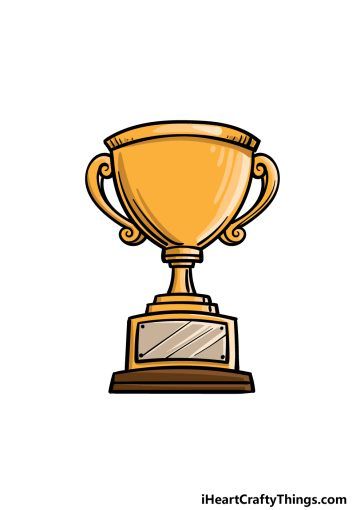 how to draw a trophy image