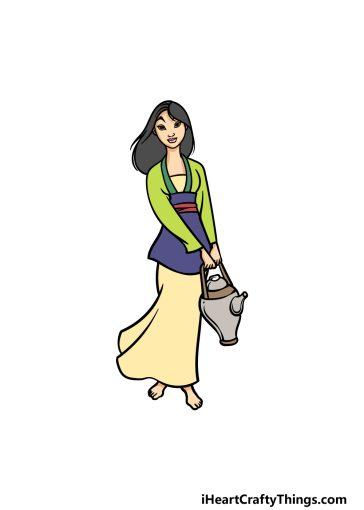 how to draw Mulan image