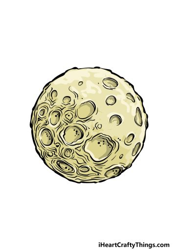 how to draw a full moon image