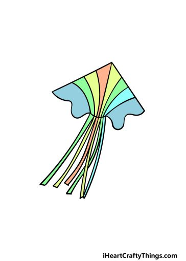 how to draw a kite image