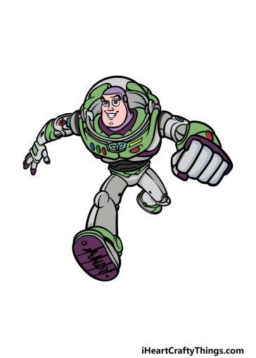 how to draw Buzz Lightyear image