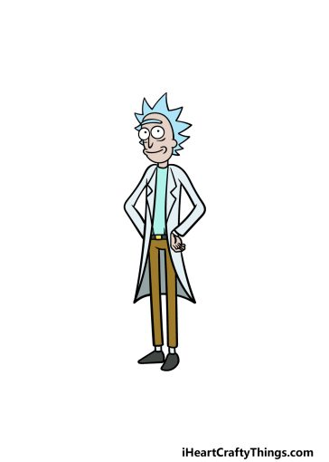 how to draw Rick image