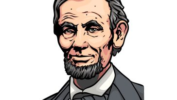 how to draw Abraham Lincoln image
